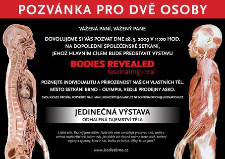 FOTKA - Světově proslulá výstava Bodies revealed se představí v Brně