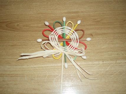 FOTKA - Vyrob si sama - Pedigová květina - zápich do květináče