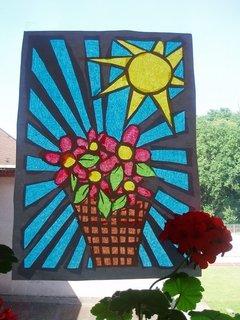 FOTKA - Vyrob si sama - Jarní výzdoba oken pokojíčku
