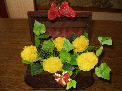 FOTKA - Vyrob si sama - Květinová dekorace - růžičky