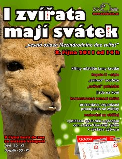 FOTKA - ZOO Děčín oslaví tuto sobotu Den zvířat