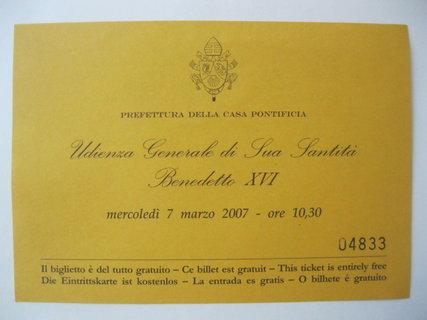 FOTKA - Moje setkání s papežem Benediktem XVI.