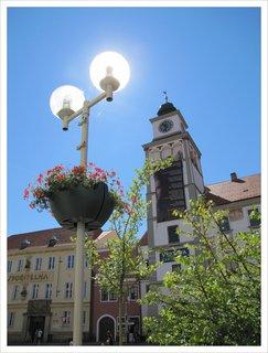 FOTKA - Záběr se zářící lampou v Třeboni