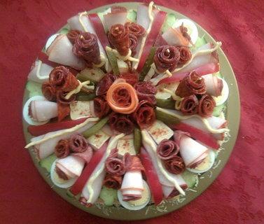 FOTKA - Slaný dort seshora