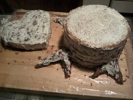 FOTKA - Těsto na dort po natření krémem