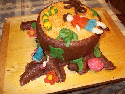 FOTKA - Potahovaný dort pařez