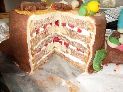 FOTKA - Potahovaný dort pařez na řezu