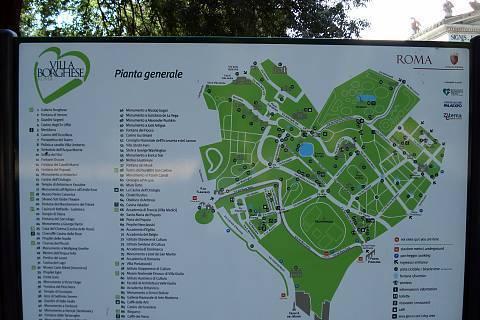FOTKA - Plánek parku v Římě