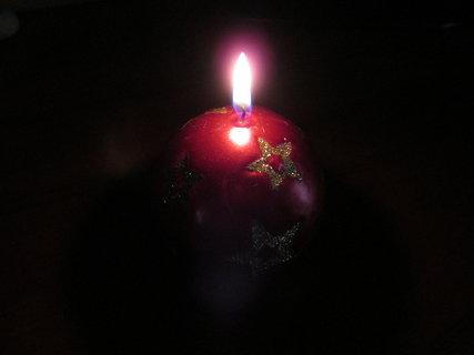 FOTKA - vánoční svíčka 4
