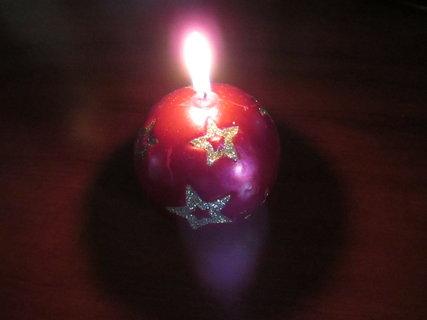 FOTKA - vánoční svíčka 5