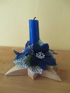 FOTKA - modrá svíčka
