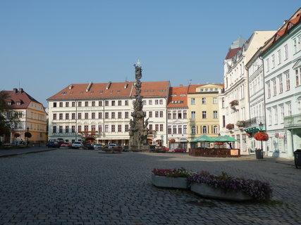 FOTKA - Teplice - náměstí s morovým sloupem
