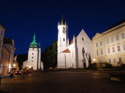 FOTKA - noční Teplice - Zámecké náměstí