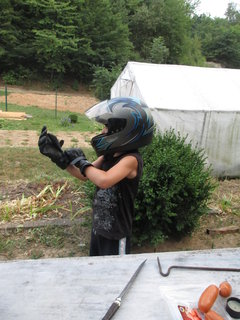 FOTKA - zkoušení helmy 3