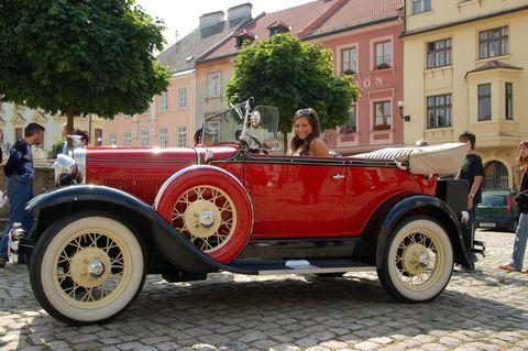 FOTKA - Němec mě pustil do svého autíčka =)
