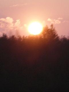 FOTKA - západ slunce nad lomem v Radnicích