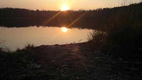 FOTKA - západ slunce nad lomem v Radnicích 3