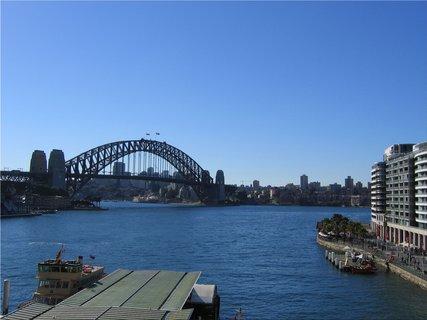 FOTKA - Pohled z prístavu na Harbour Bridge