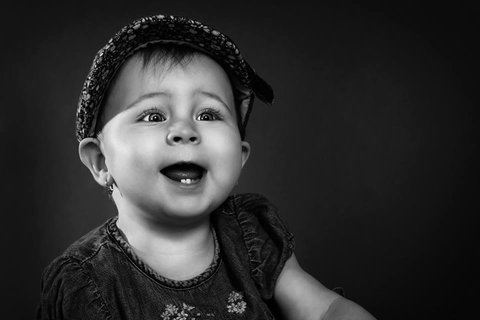 FOTKA - malá Sofie,čb