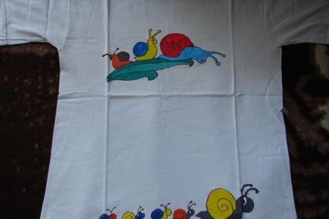 FOTKA - malované tričko - šnečci