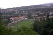 prochazka a Boskovice pres stromy,zimni stadion