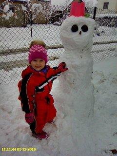 FOTKA - Můj první sněhulák .....