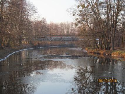 FOTKA - Kraj řeky je už namrzlý