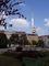 Žižkovský vysílač z náměstí Jiřího z Poděbrad