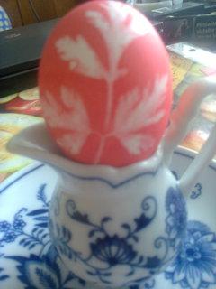 FOTKA - babička barvila vajíčka