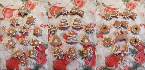 FOTKA - Vánoční zdobené perníčky