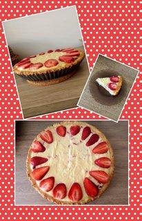 FOTKA - Ricottový koláč s jahodami