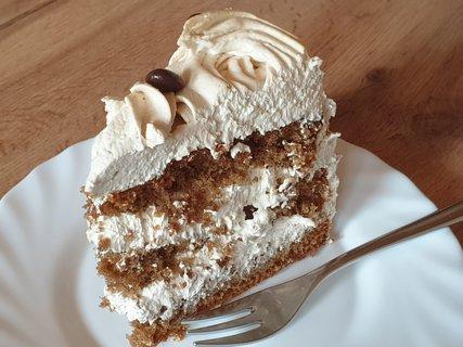 FOTKA - Mocca dortík v řezu