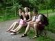 Já,můj syn a jeho přítelkyně v ZOO