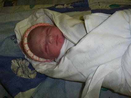 FOTKA - Klárinka hned po porodu