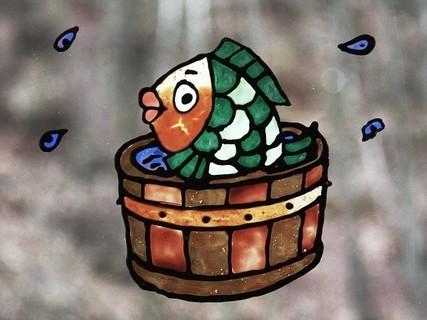 FOTKA - malování na sklo - ryba