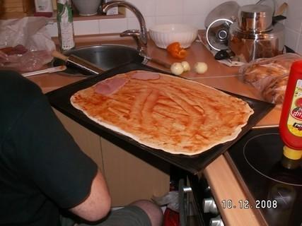 FOTKA - pečení domácí pizza 9