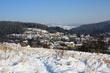 Úpice  - v pozadí vrcholky Jestřebích hor