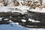 řeka Úpa v zimě