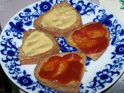 FOTKA - Chleba smažený ve vajíčku-kombinace