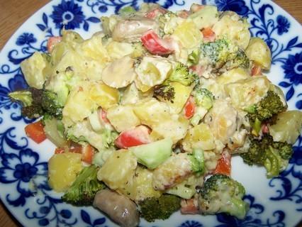FOTKA - Brambory zapečené s brokolicí - porce