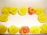 marcipánové růžičky na dort§