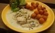 kuřecí prsíčka s nivou a krokety