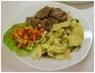 vepřové s bramborem a zeleninou