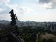 pohled z vrchu hradu v Himeji