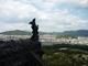 bozsky pohled z vrchu hradu v Himeji