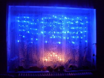 FOTKA - má vánoční výzdoba v okně