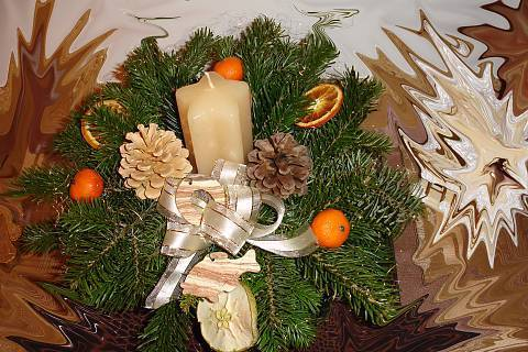 FOTKA - vánoční svícen