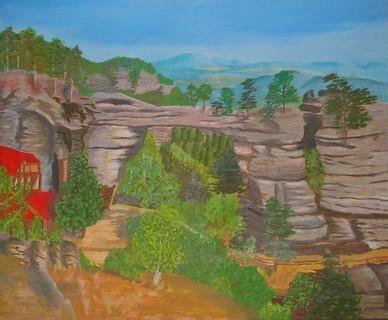 FOTKA - ručně malovaný obraz-malovala kamarádky maminka..