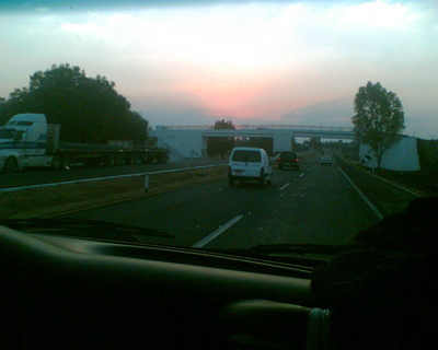 FOTKA - Západ slunce z auta - 1