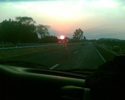FOTKA - Západ slunce z auta - 2